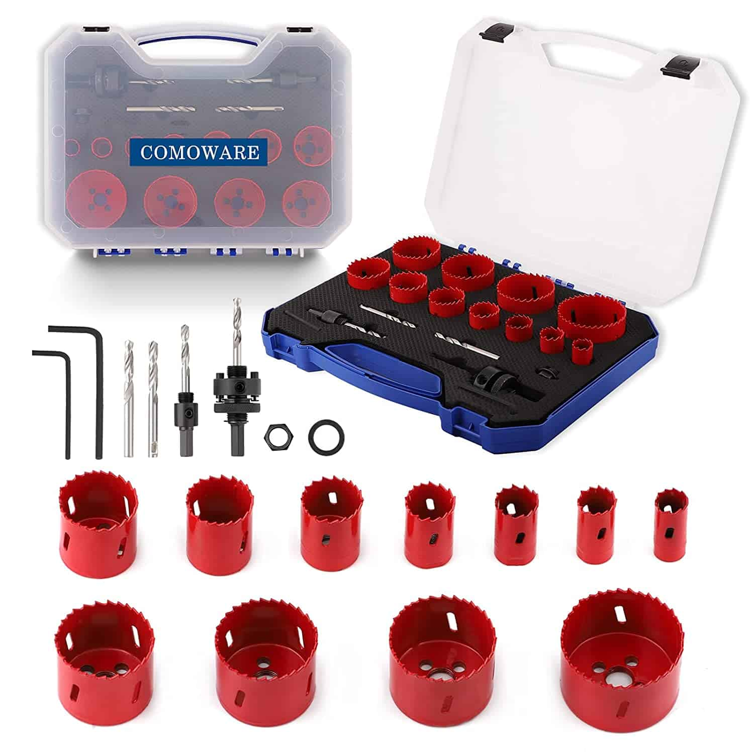 Best Hole Saw Kit for under $50:Comoware multi for Metal, Wood, PVC