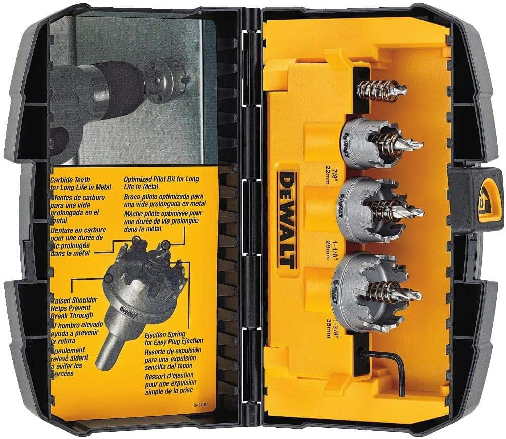 Best hole saw kit for under $100: Dewalt 3-piece