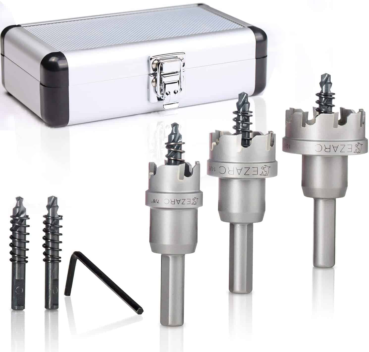 Best value for money: EZARC Carbide Hole Cutter Set for Stainless Steel