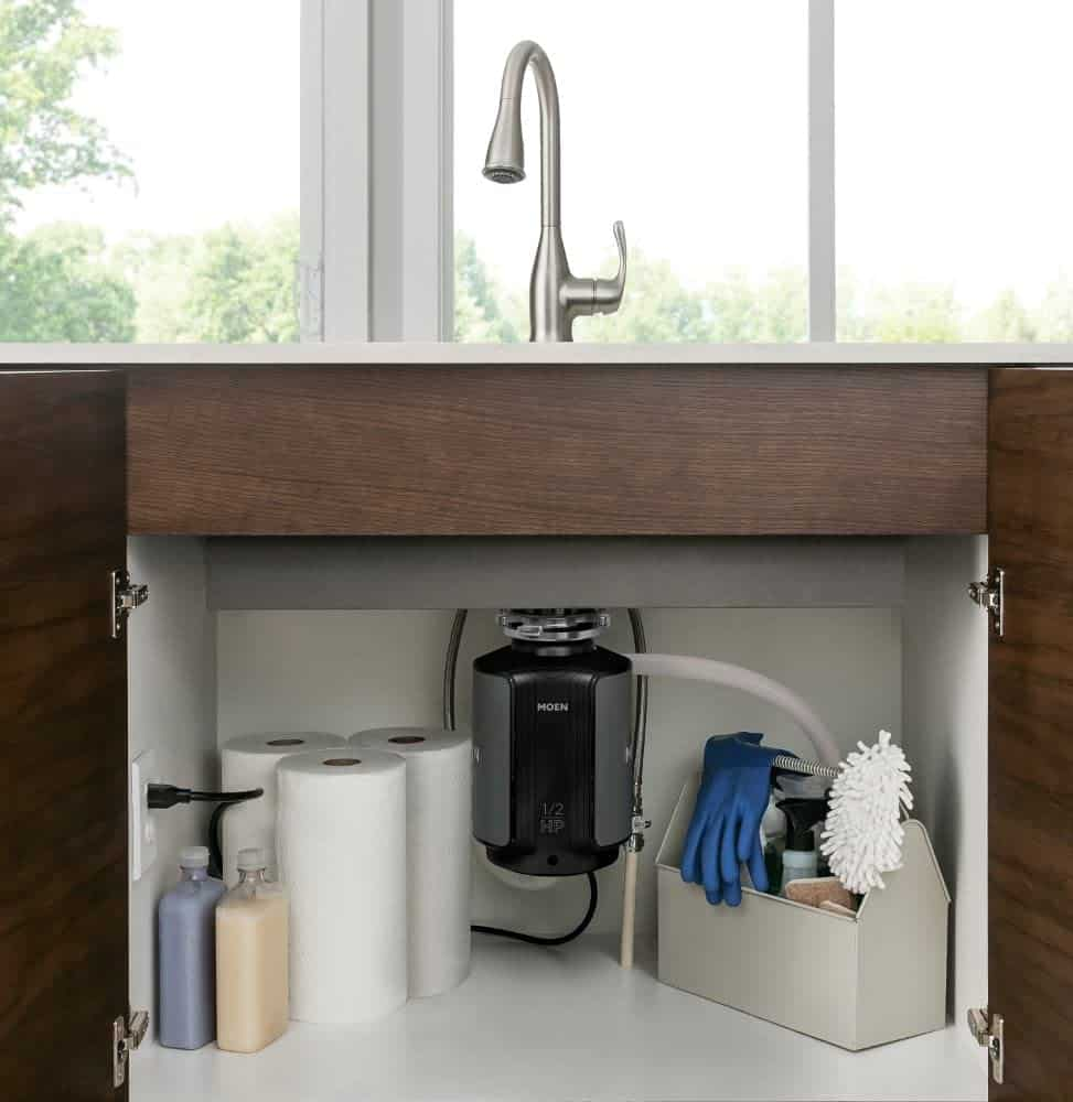 Easiest installation: Moen GX50C GX Series Garbage Disposal for Septic Systems
