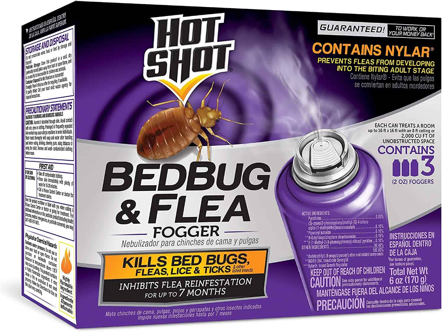 Bed Bug Fogger: Hot Shot 95911 AC1688 Bedbug & Flea Fogger