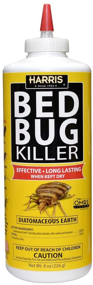 Bed Bug Powder: HARRIS Bed Bug Killer, Diatomaceous Earth