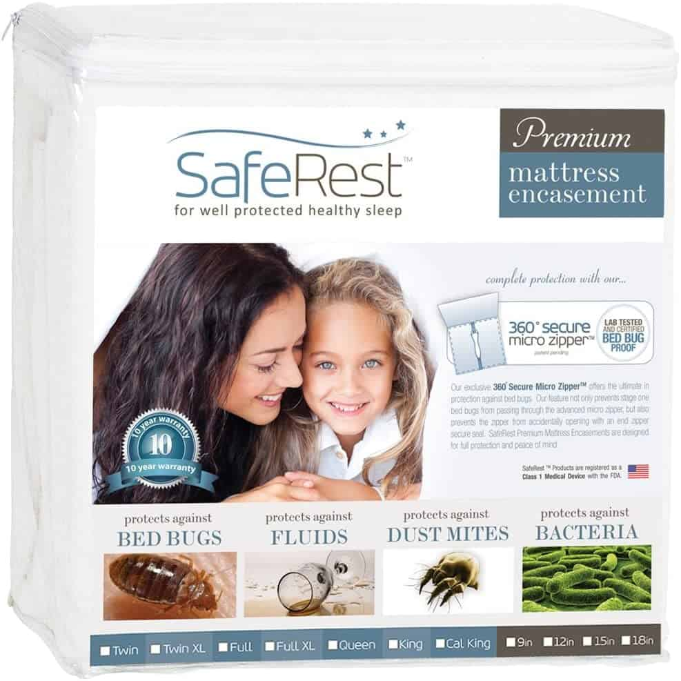 Bed bug Mattress Protector: SafeRest Premium Zippered Mattress Encasement