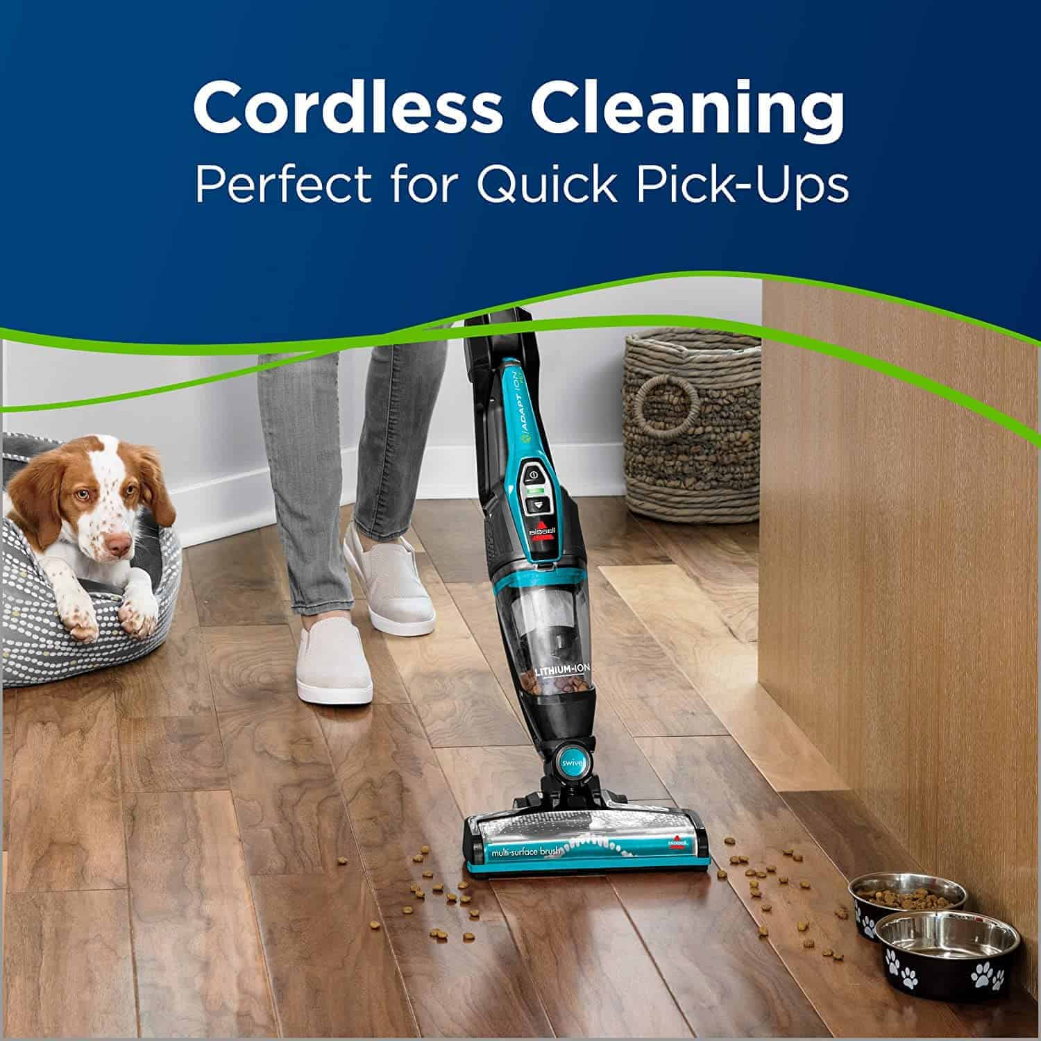 Best 2 in 1 Stick Cordless Vacuum for Pet Hair: BISSELL Adapt Ion