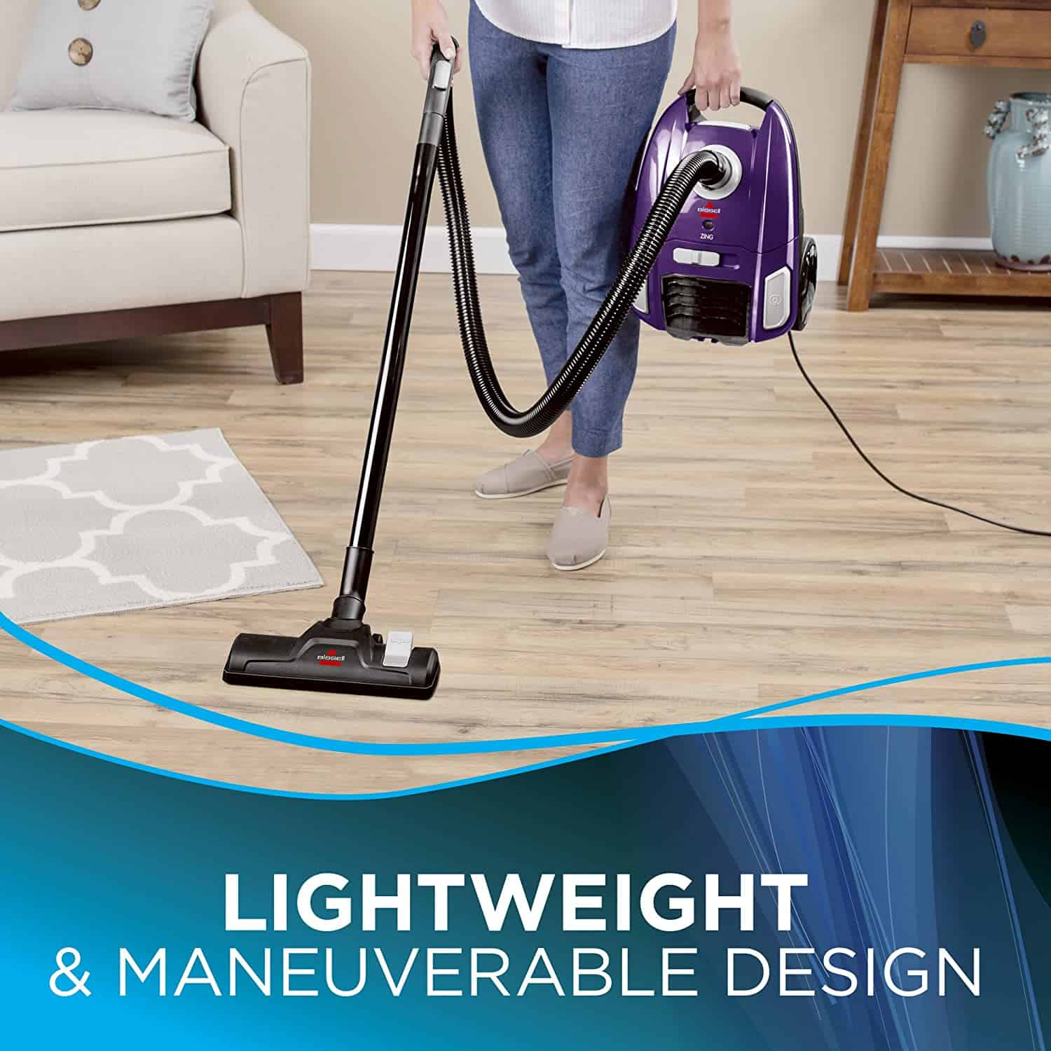 Best Budget Vacuum Cleaner: BISSELL Zing Lightweight Bagged Canister Vacuum