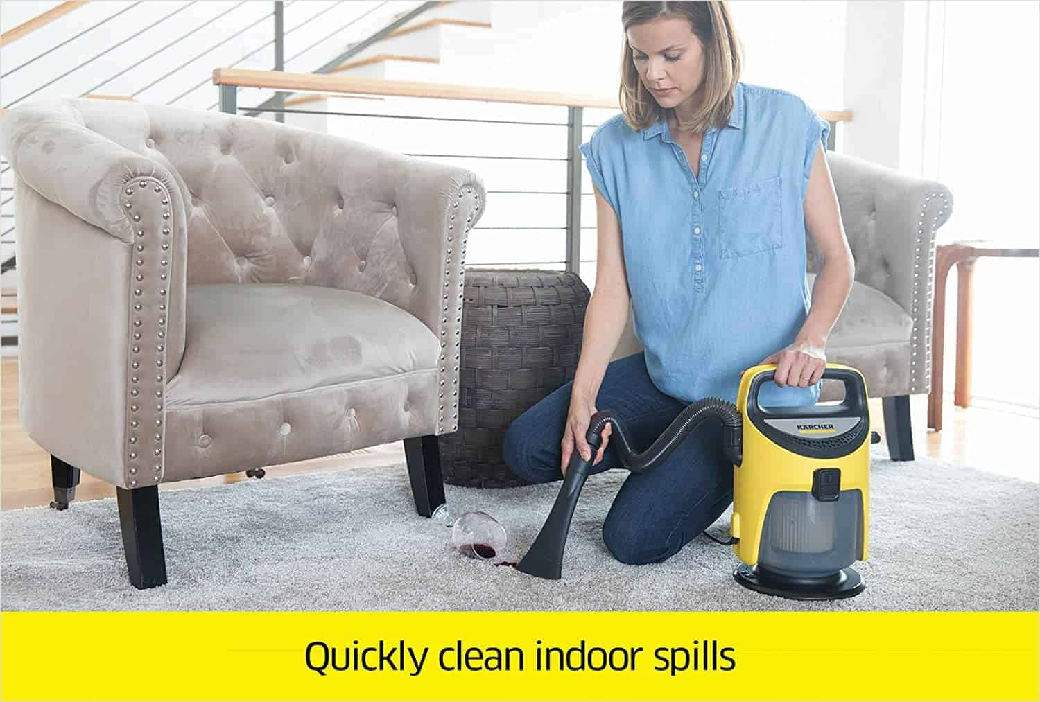 Best Dustbuster for Wet and Dry Surfaces: Karcher TV 1 Indoor Vacuum