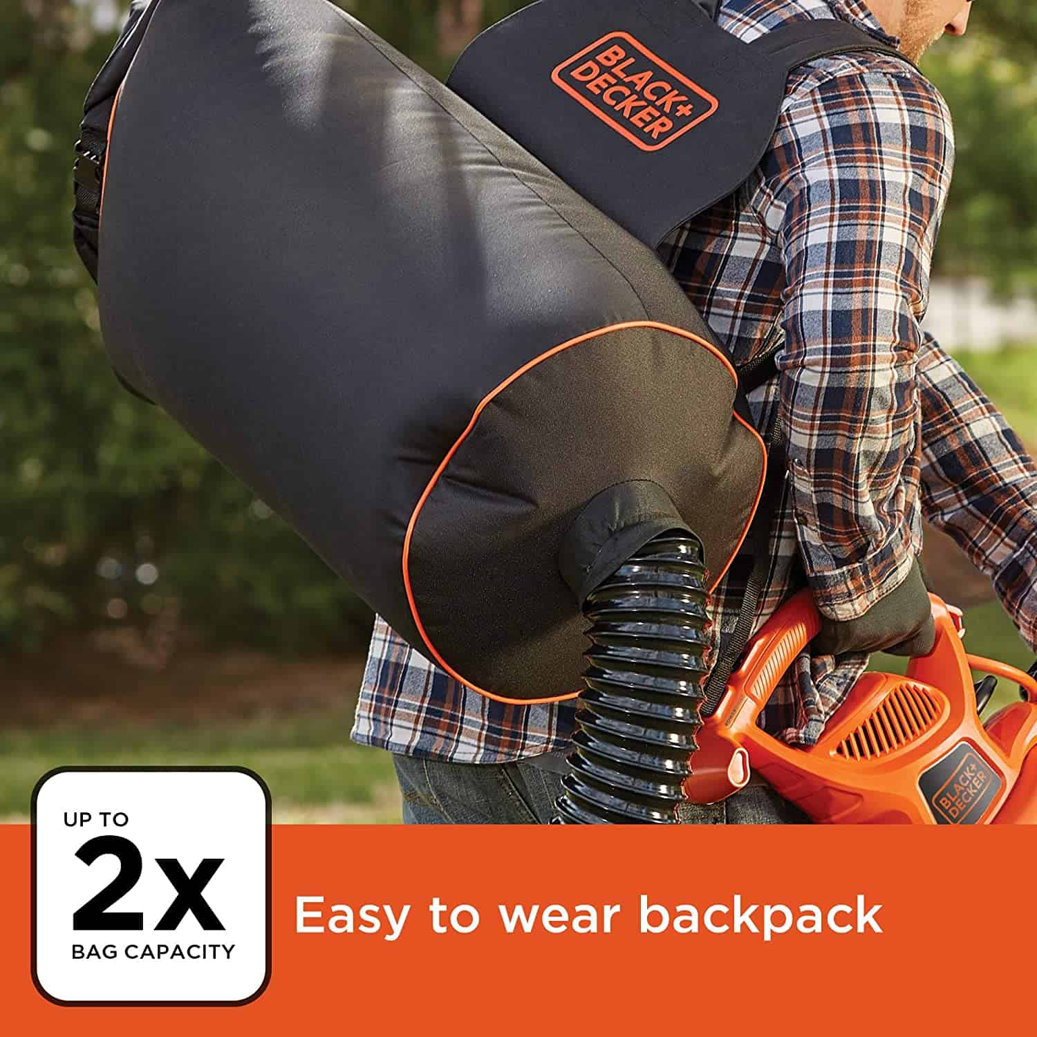 Best Leaf Vacuum and Blower Backpack: BLACK+DECKER BEBL7000