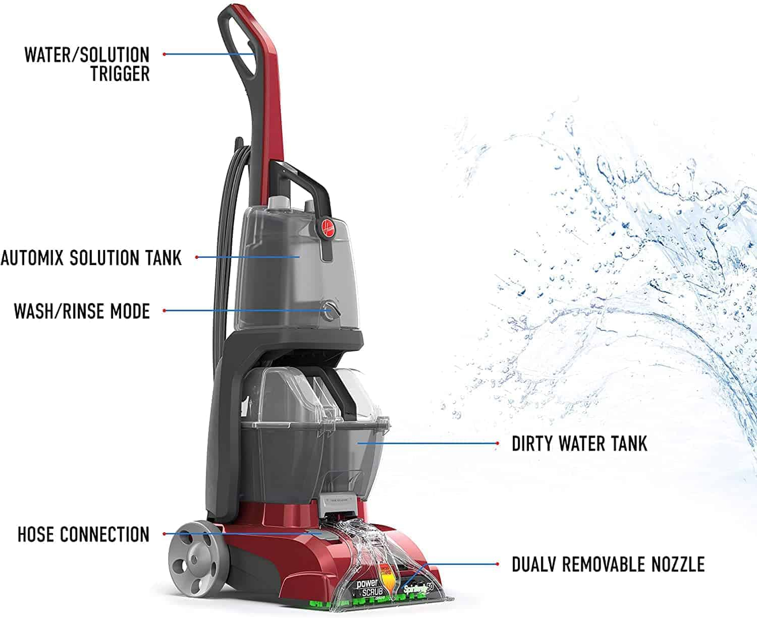 Best carpet vacuum and shampooer: Hoover Power Scrub Deluxe FH50150