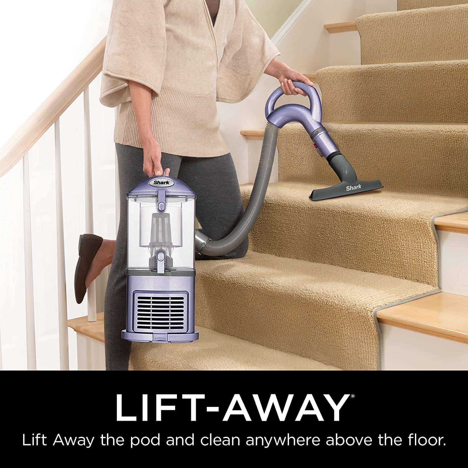 Best lightweight upright vacuum: Shark NV352 Navigator Lift-Away