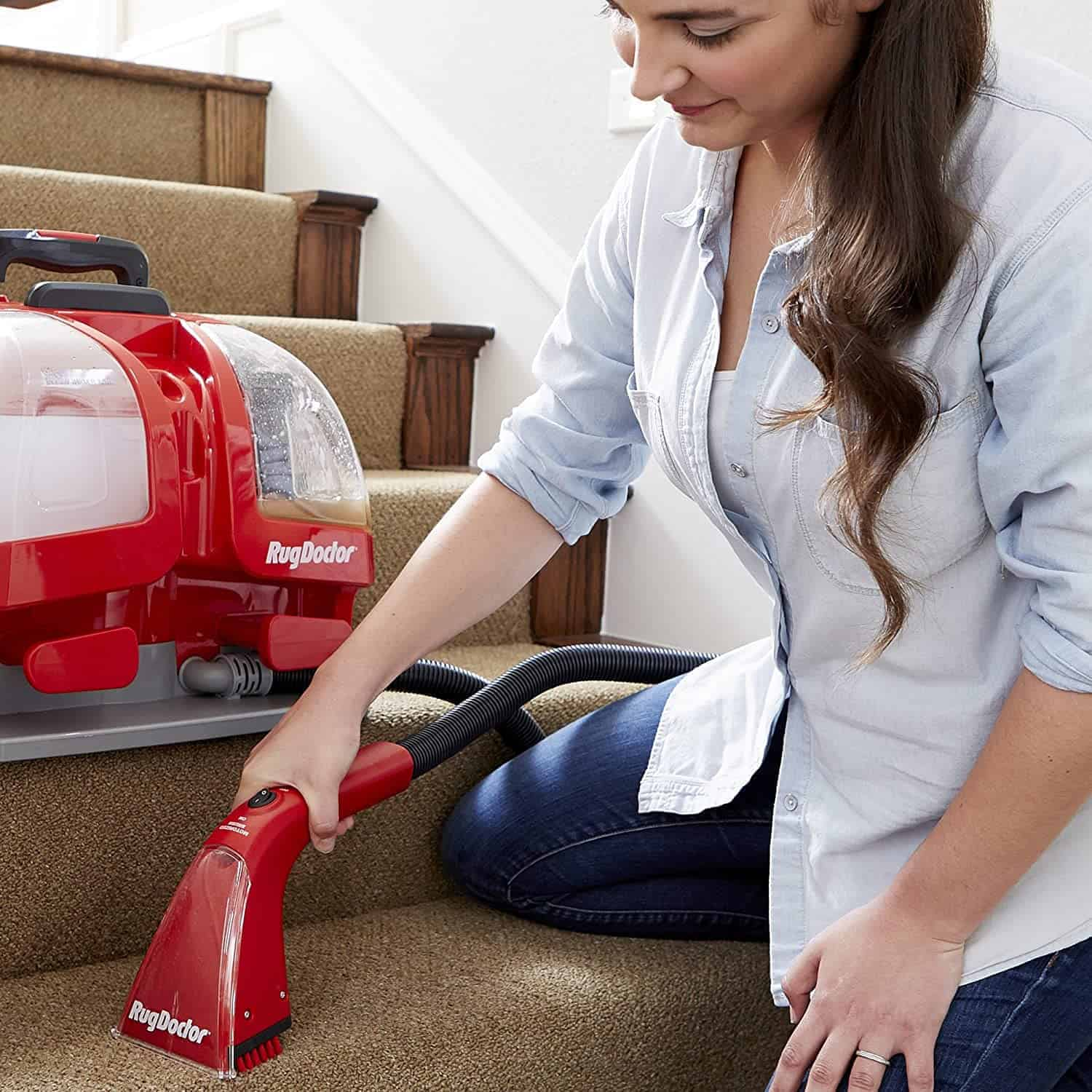 Best small portable carpet cleaner for stairs steps: Rug Doctor