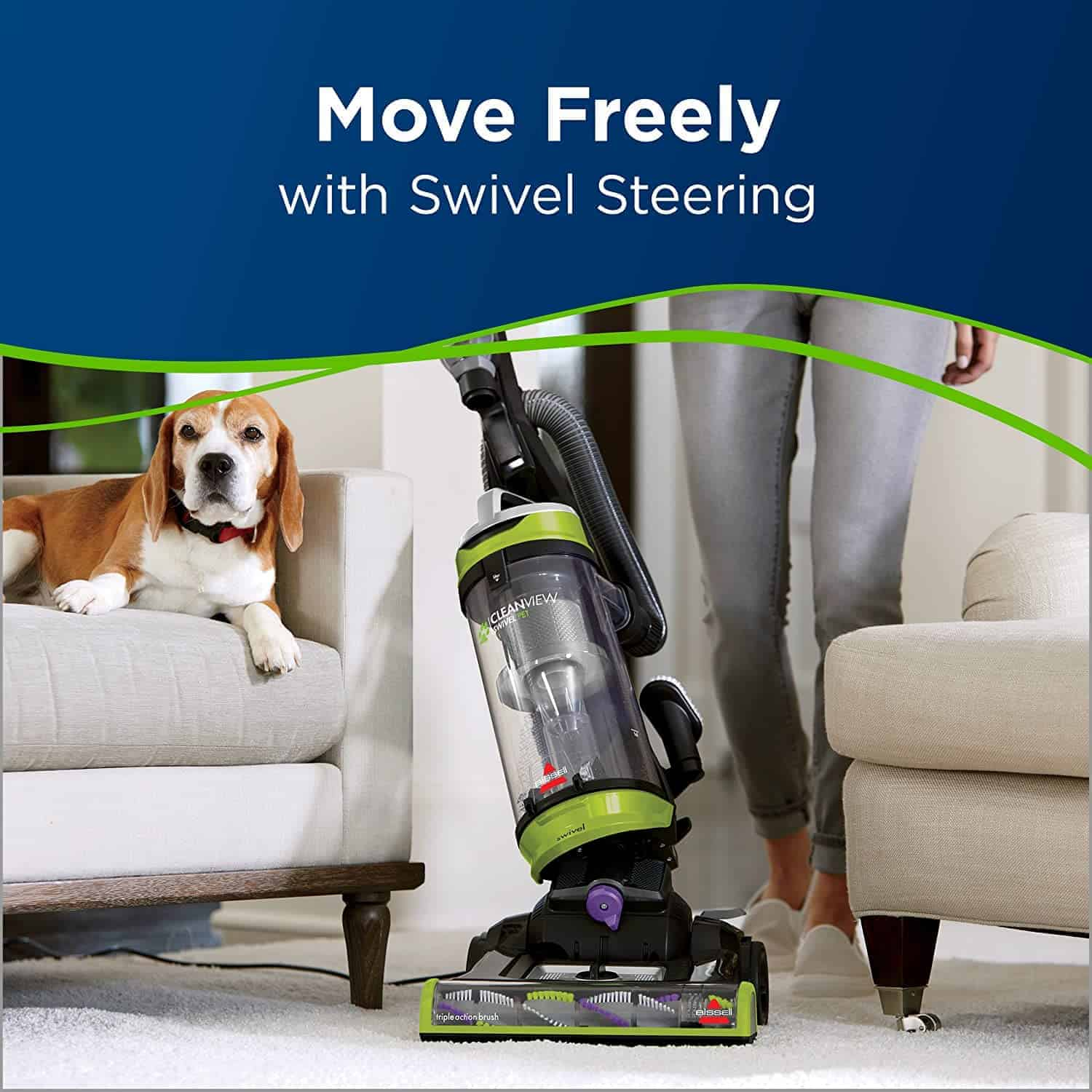 Best upright vacuum for pet hair: Bissell 2252 Swivel