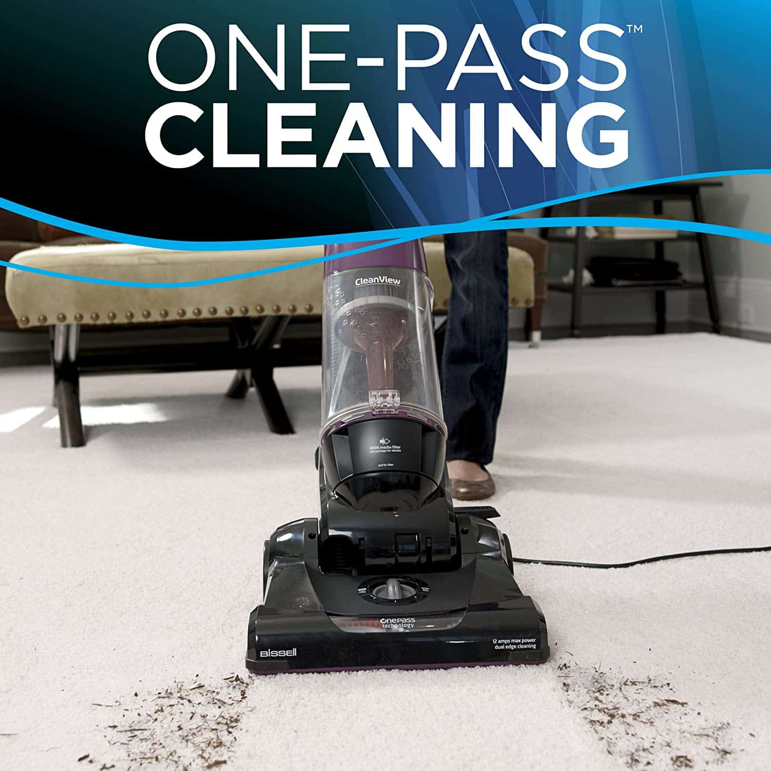 Best upright vacuum under $100: Bissell 9595A OnePass