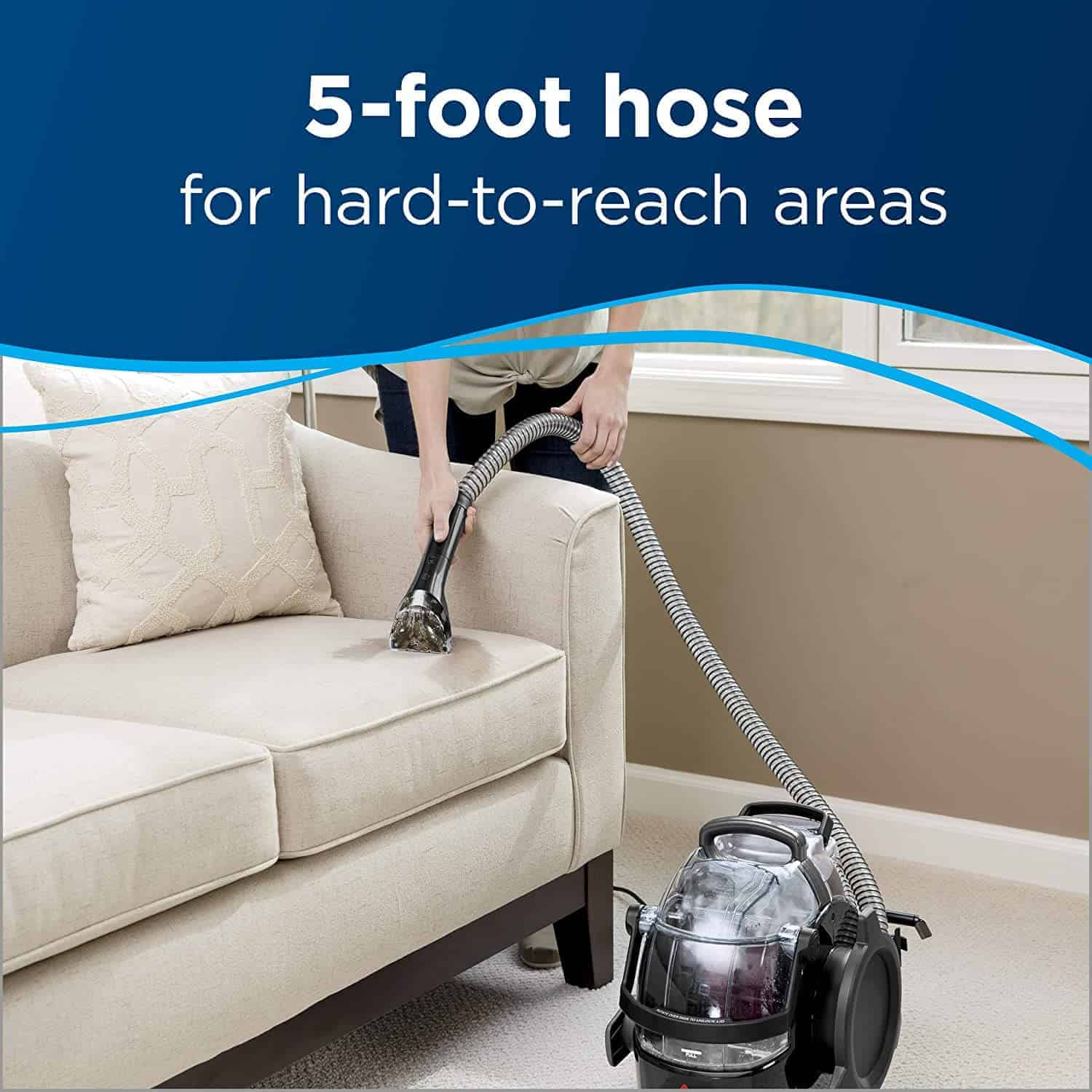Best value portable carpet and upholstery cleaner: Bissell 3624 SpotClean