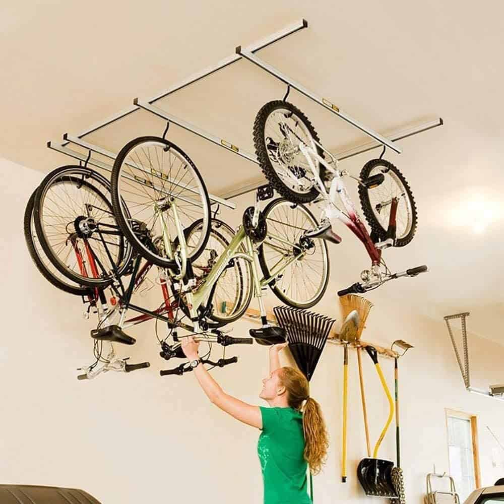 Ceiling bike mount for your apartment