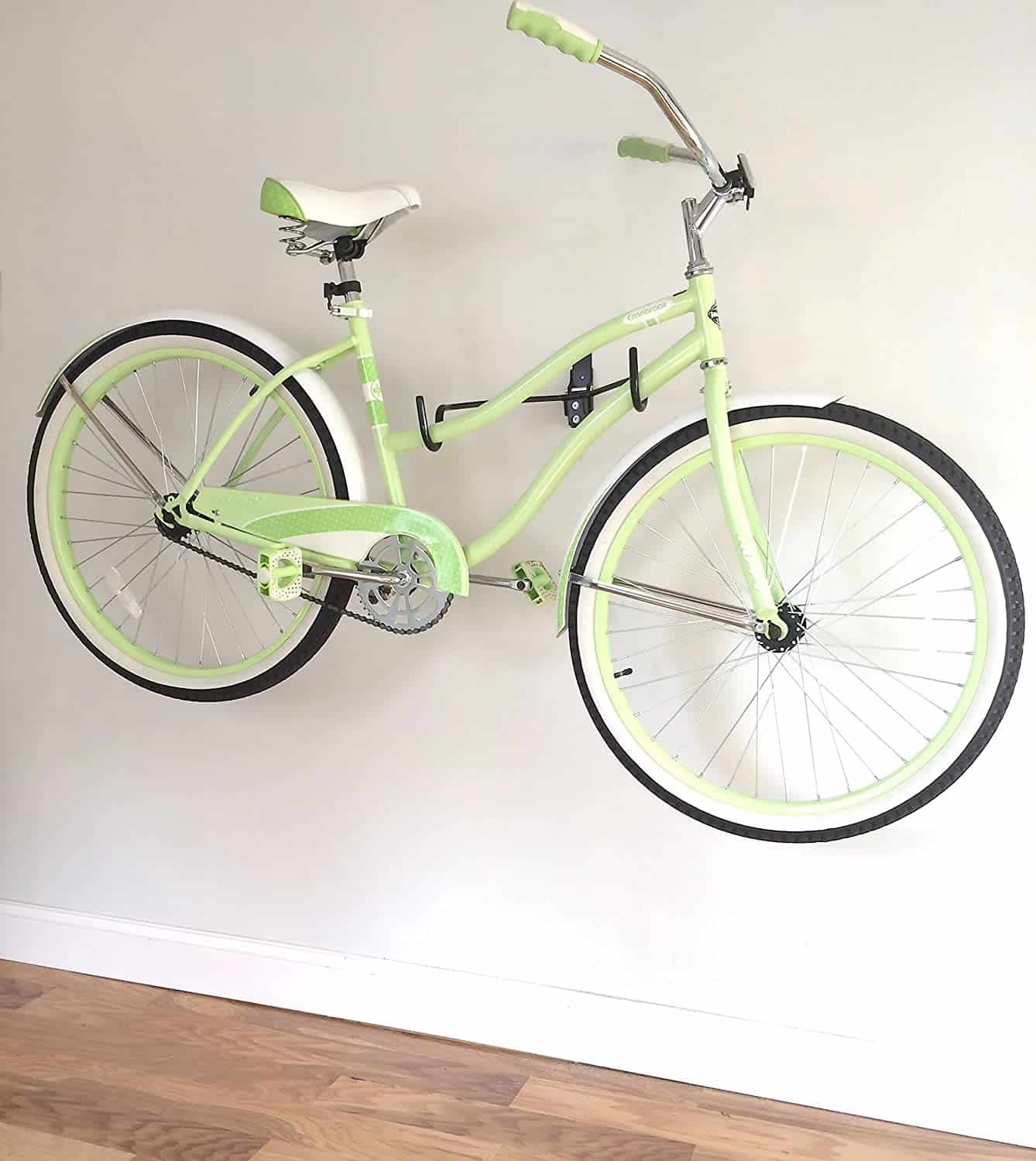 Horizontal bike wall mount