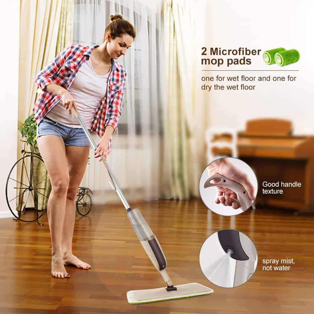 Microfibre mop for hardwood floors