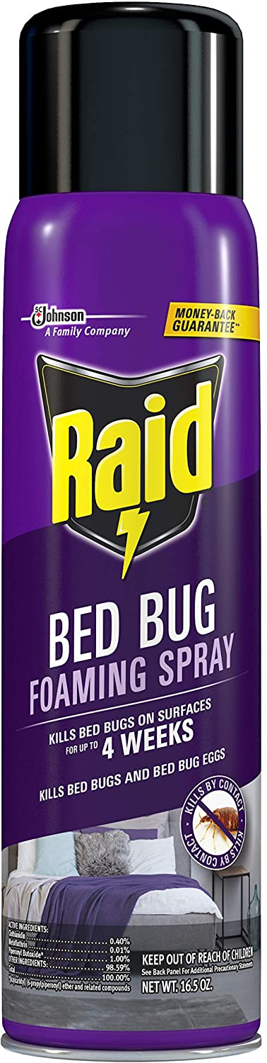 Raid Bed Bug Foaming Spray, For Indoor Use, Non-Staining