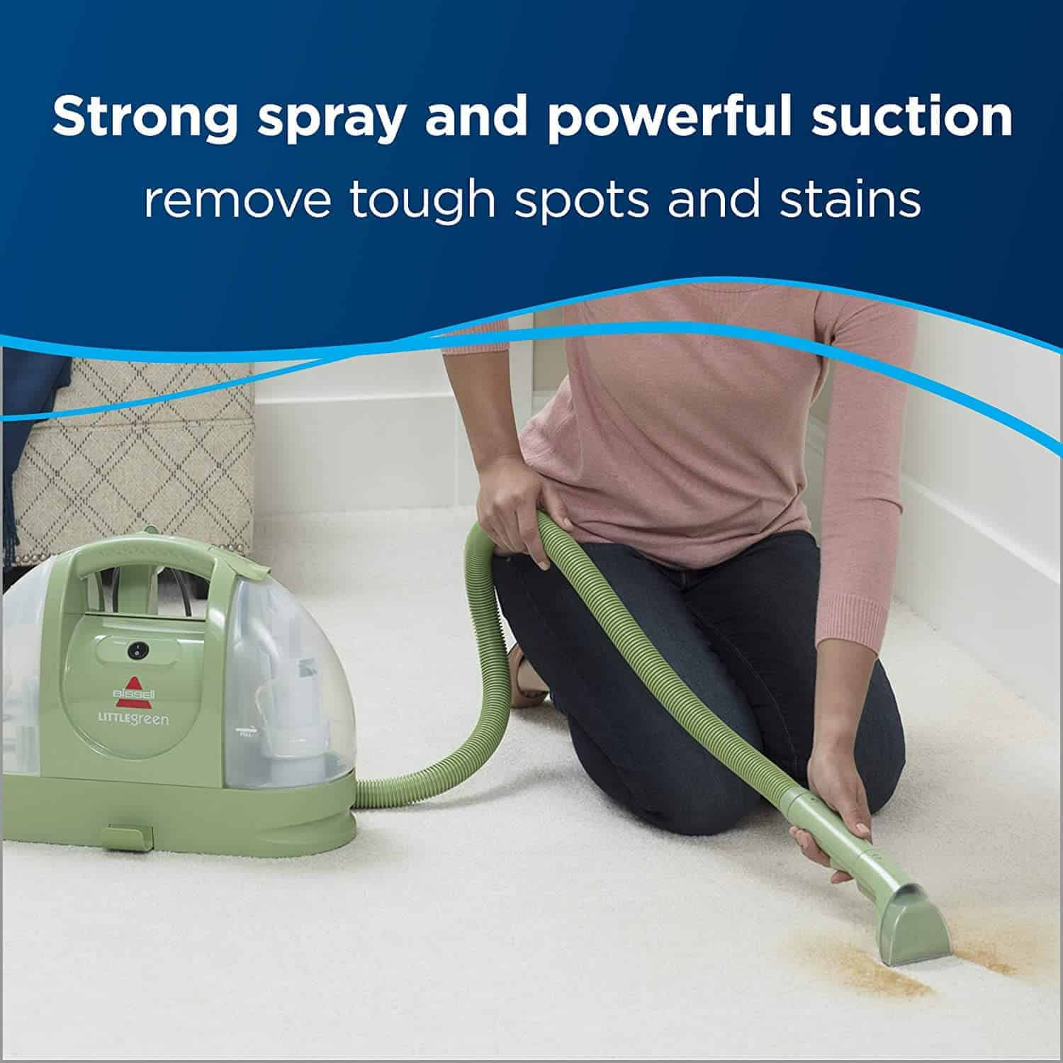 Top-quality best rated portable carpet cleaner: Bissell 1400B