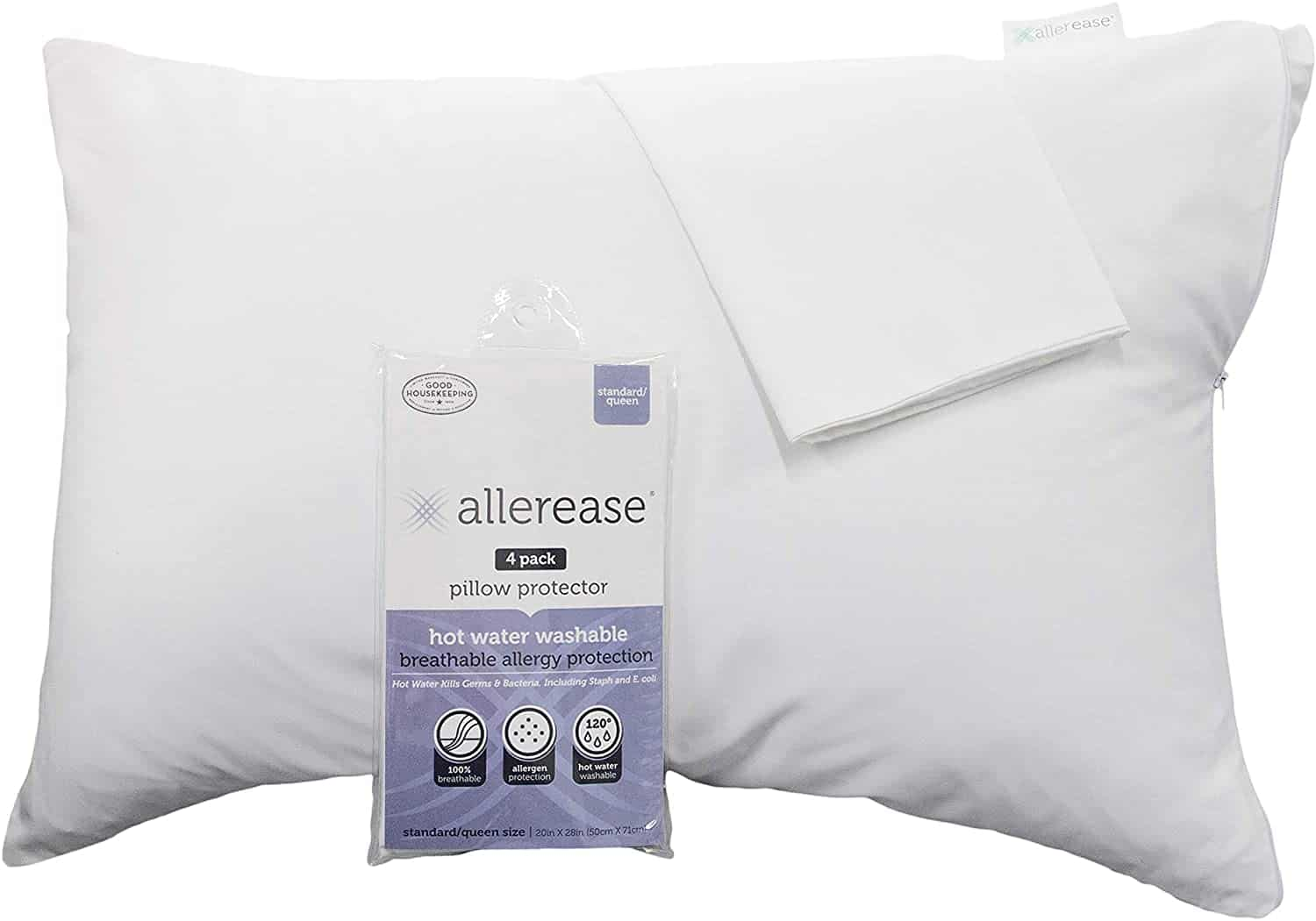 protective hypoallergenic pillow covers