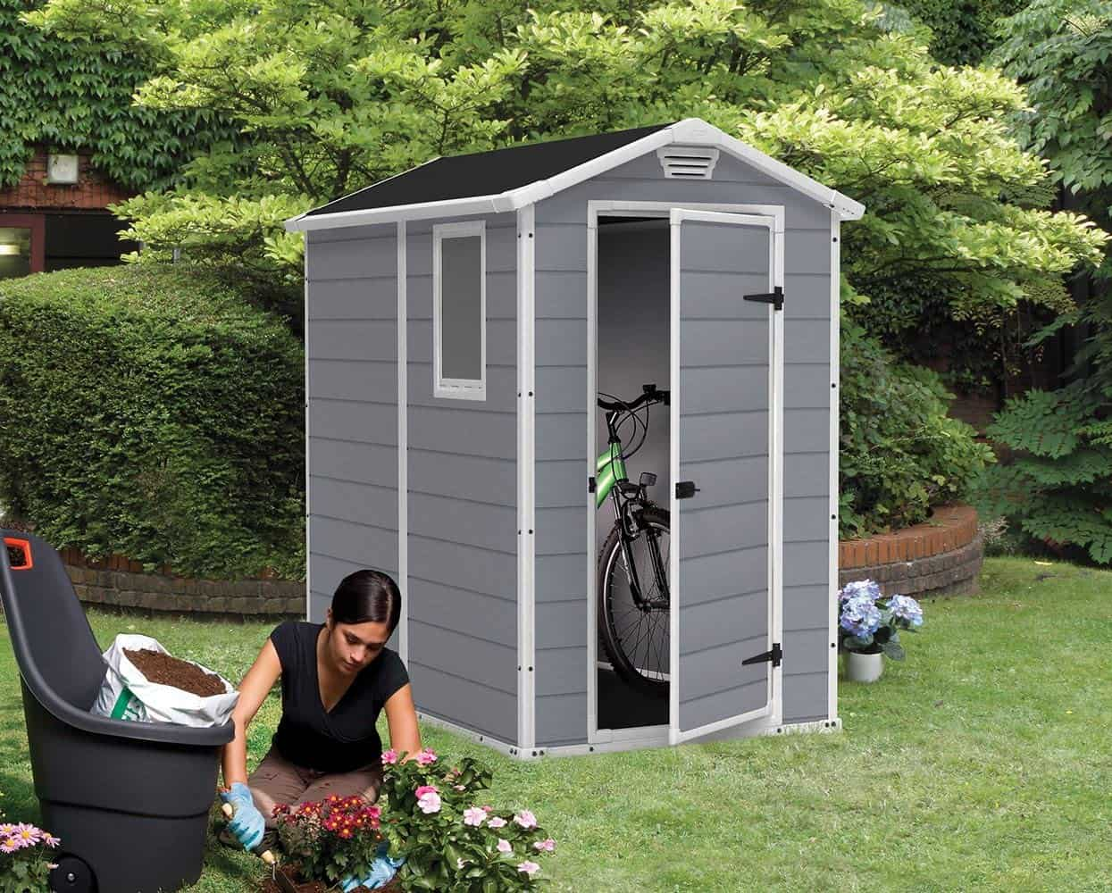 Best Plastic Bike Storage Shed: Keter Manor