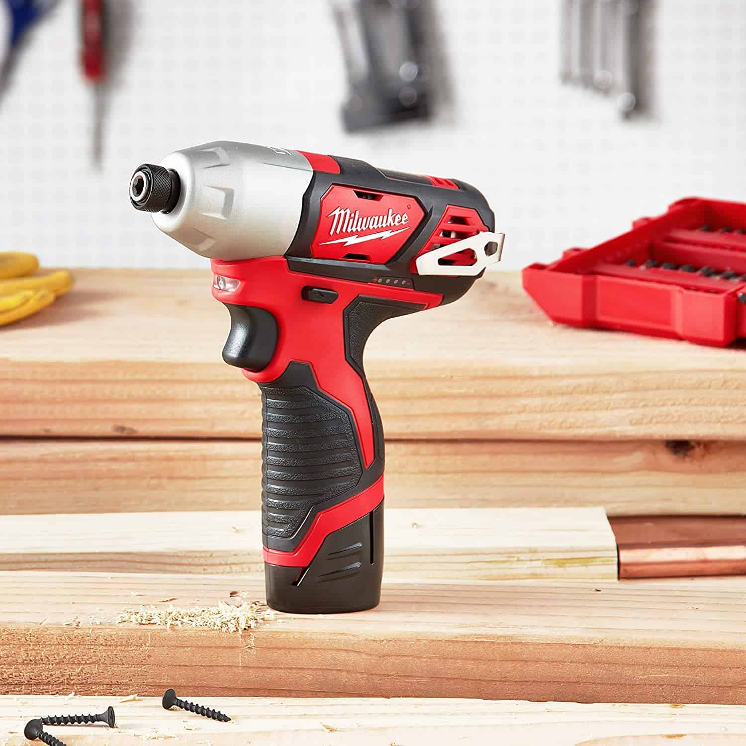 Best budget option 12v impact driver: MILWAUKEE'S 2462-20 M12 Lithium-Ion Cordless Impact Driver