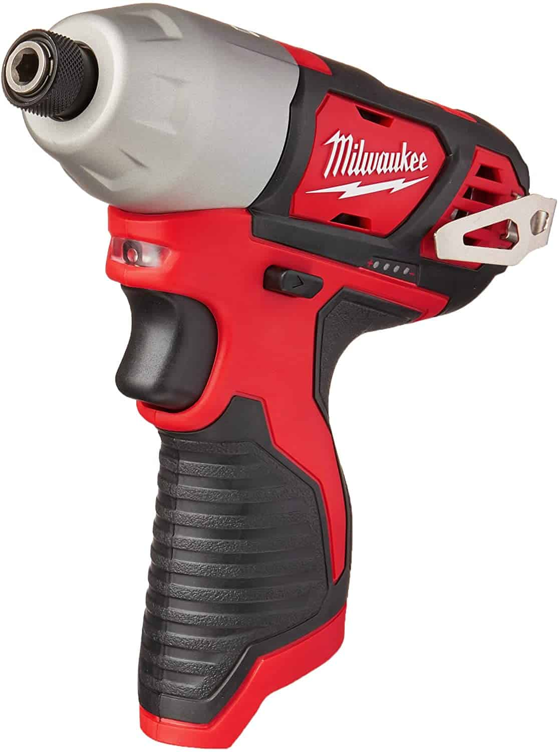 Best battery life 12v impact driver: MILWAUKEE'S 2462-20 M12 Lithium-Ion Cordless Impact Driver