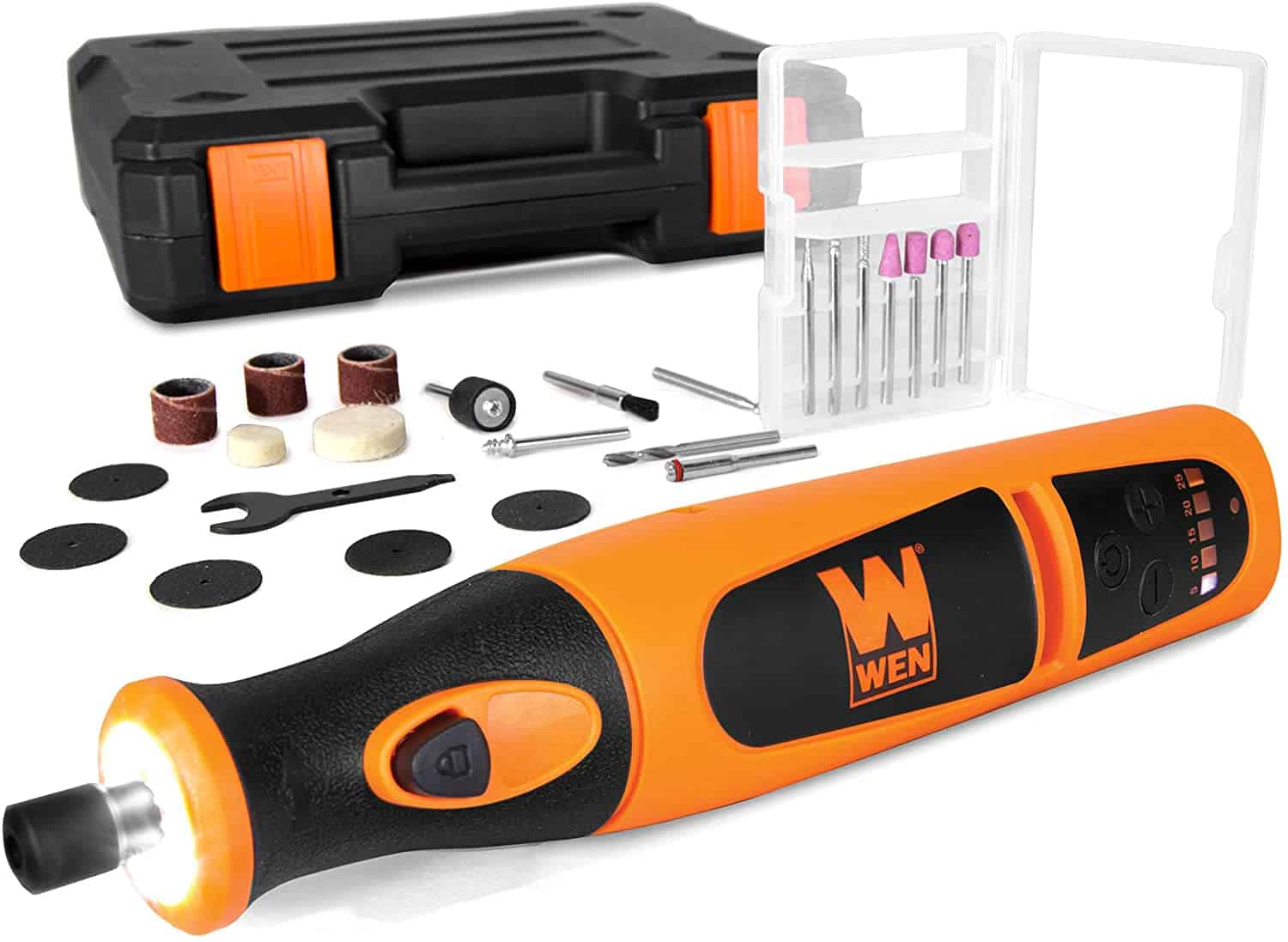 Best cordless rotary tool with LED light- WEN 23072 Variable Speed Lithium-Ion