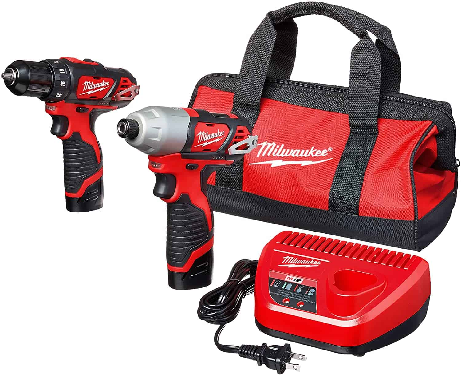 Best impact driver + drill combination package- MILWAUKEE'S 2494-22 M12 Cordless Combination