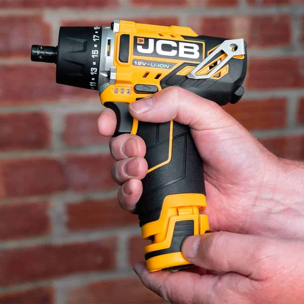 Best impact driver for home use- JCB Tools 12V Power Tool Kit in hand
