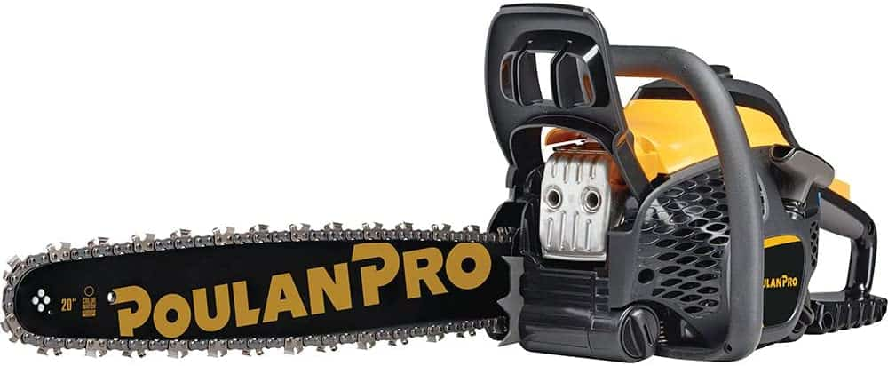 Best lightweight professional chainsaw- Poulan Pro 20 in. 50cc 2-Cycle Gas