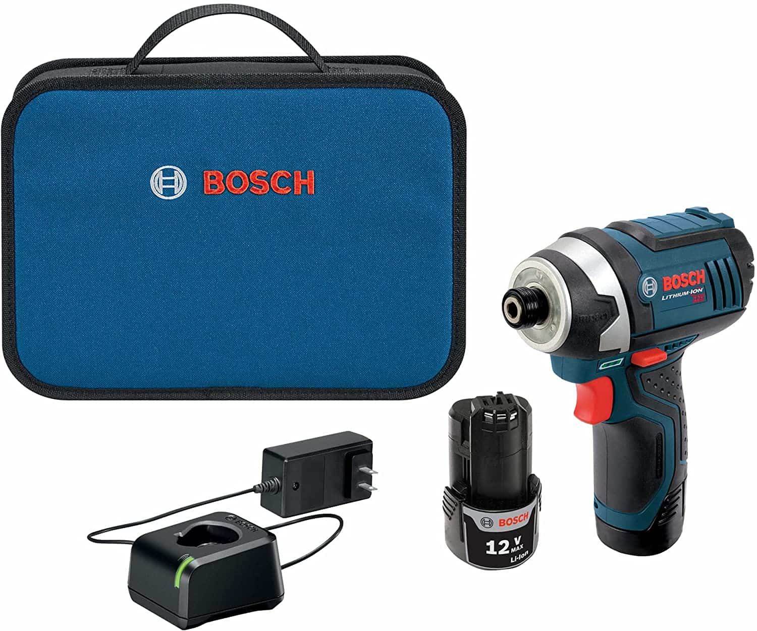 Best overall 12v impact driver- BOSCH PS41-2A 12V Hex Impact Driver Kit complete set