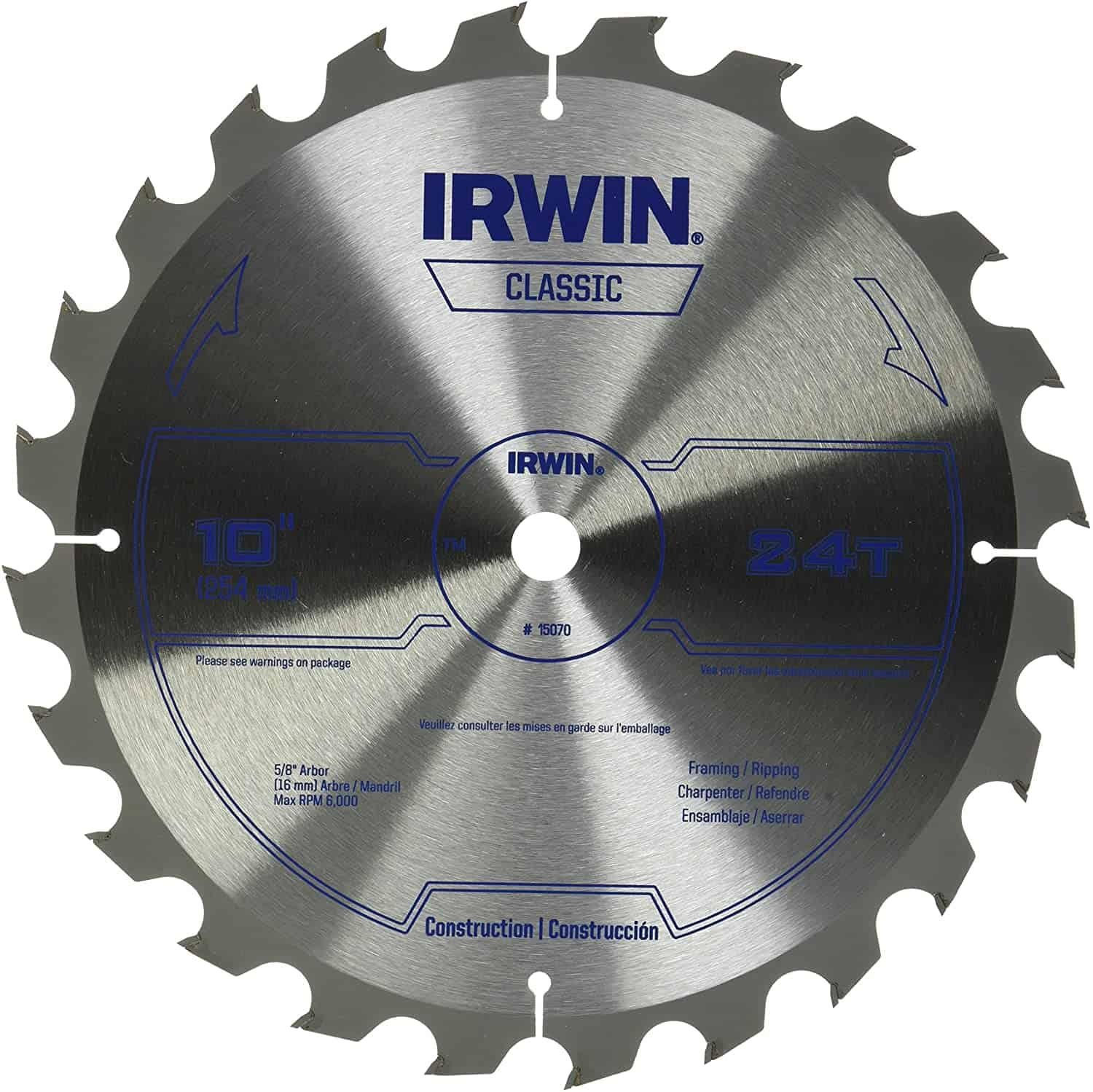 Best saw blade for on a budget- IRWIN Classic Series, Carbide Table (15070)