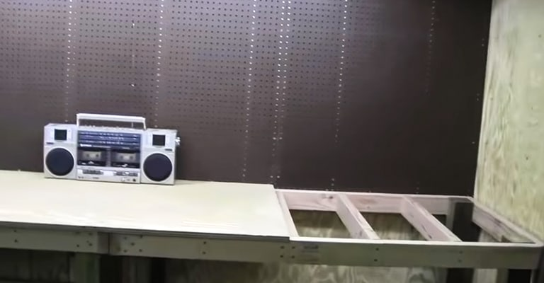 How-to-Attach-Pegboard-to-Workbench