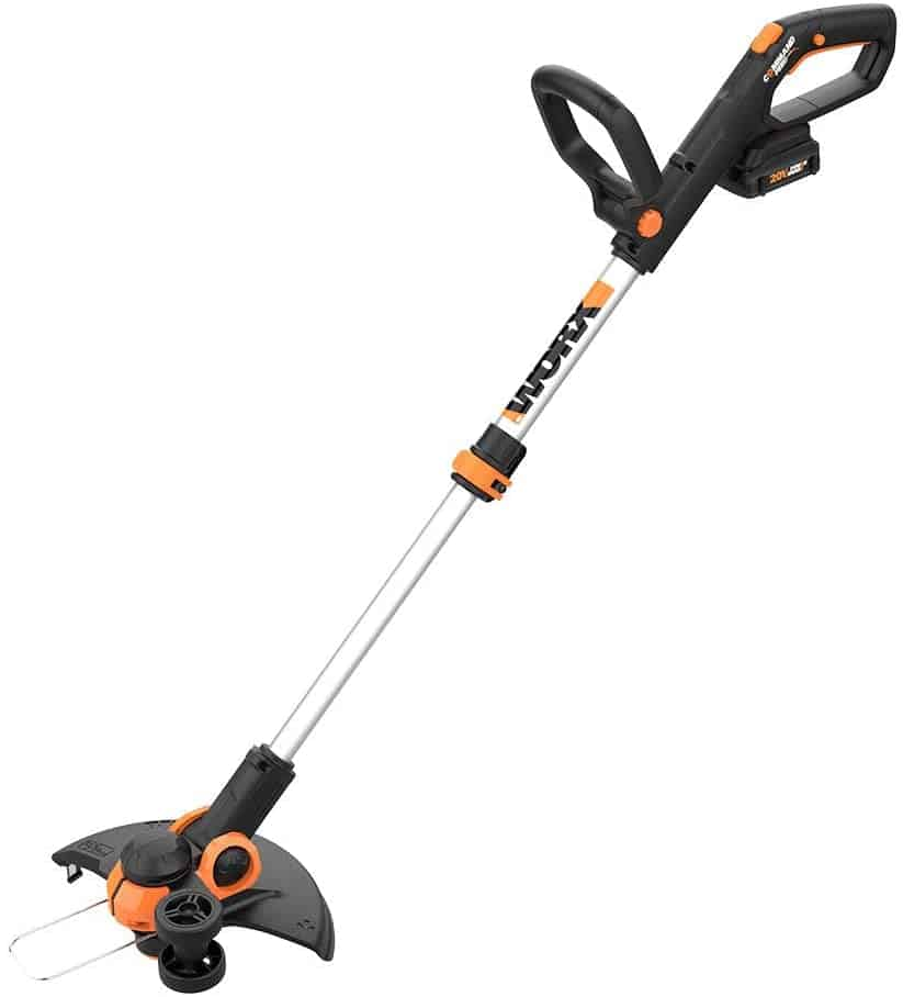 Most comfortable and light weight weed eater: WORX WG163 GT 3.0 20V PowerShare