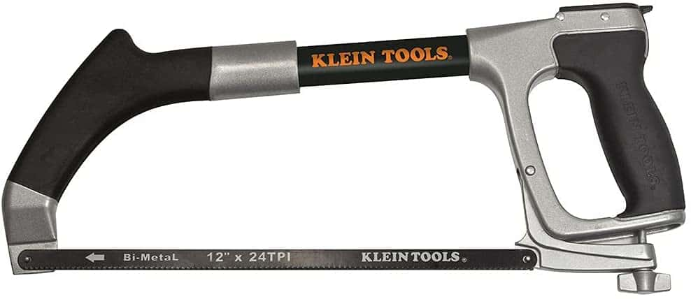 Best hacksaw for experienced hobbyists or professionals- Klein Tools 12-inch Reciprocating Blades